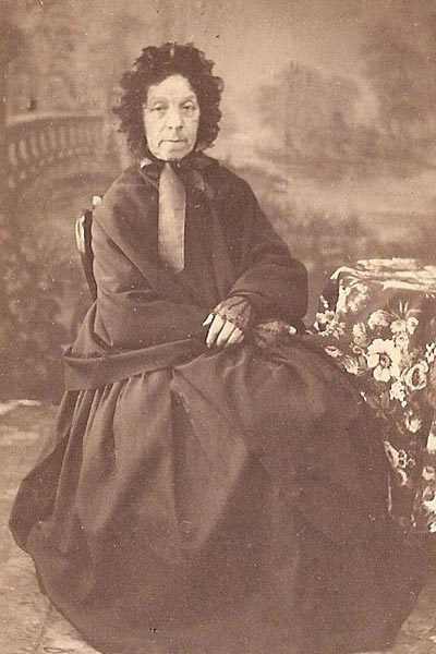 Françoise Marie Joseph Mollot - née Freminet circa 1840. This is the oldest photo brought to Canada in the family collection. Note that she is wearing a shawl.