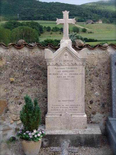 Monument in the cemetery in Blandin, France