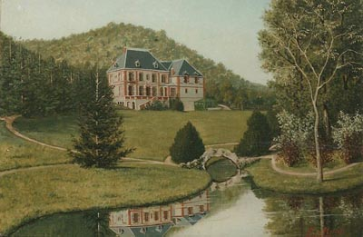 Painting: Chateau Blandin by Fortuné Mollot circa 1880